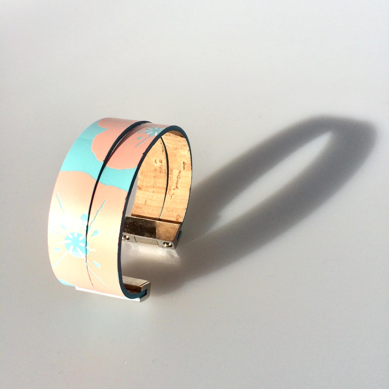 bracelet-cuir minako-turquoise