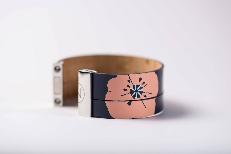 manchette cuir lilli ninti cuff leather handcrafted