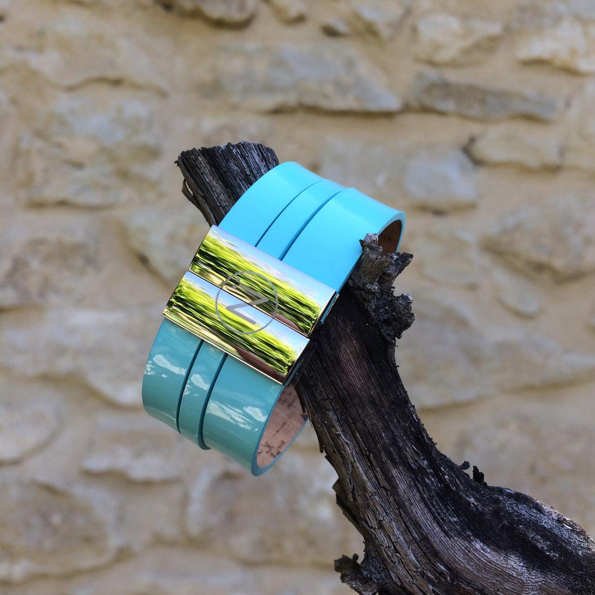 ninti bangle cuff bracelet leather eco friendly cork fashion made in france handcrafting